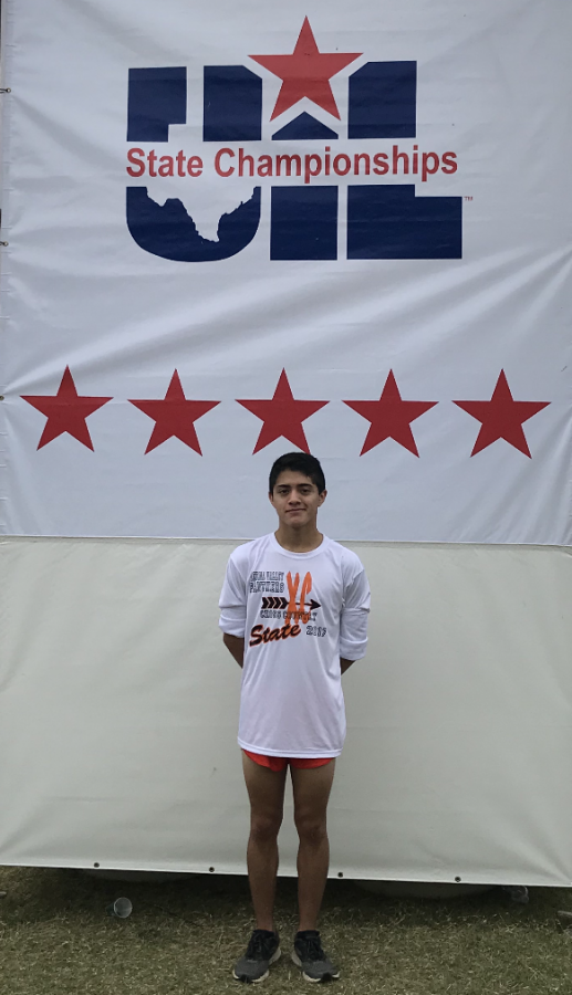 Josh Sandoval,11, at the Texas State Cross Country meet.