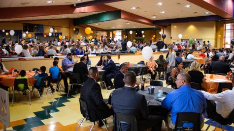 The attending crowd of the sports banquet