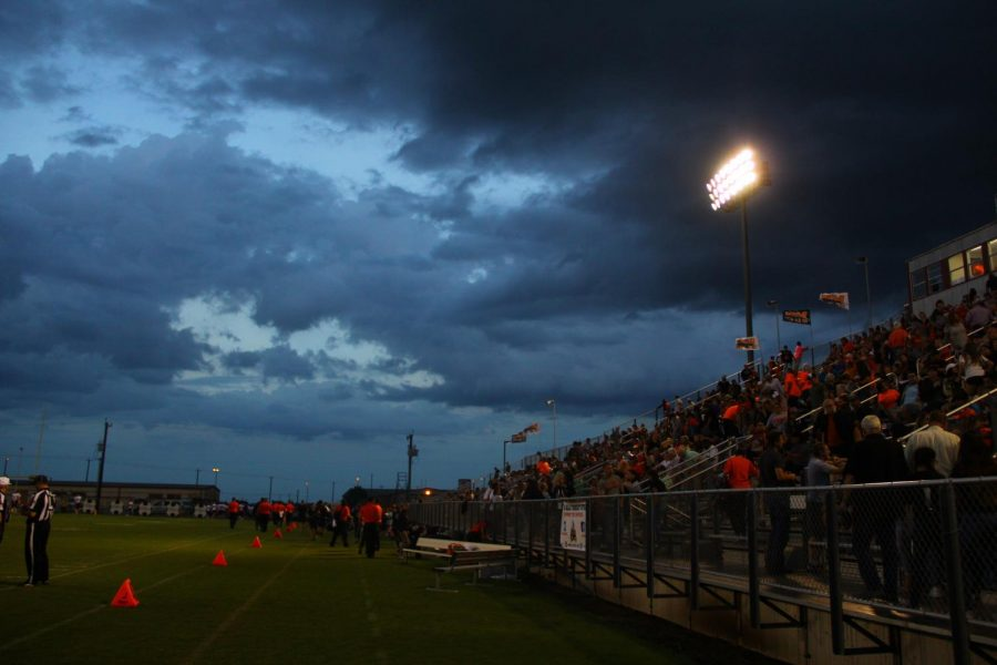 The storms approach was the second biggest thing to wash out Boerne the first being the Panthers.