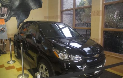 The Chevy Trax that will be awarded to a deserving senior.