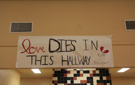 Mrs. Torres created this eye-catching sign to share the love...or lack thereof