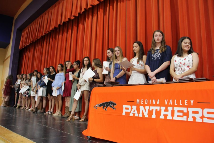 The girls are recognized for all their achievements throughout the season.