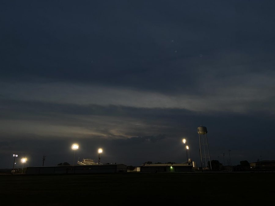MV turns on our Panther Stadium field lights to show we are in this together.